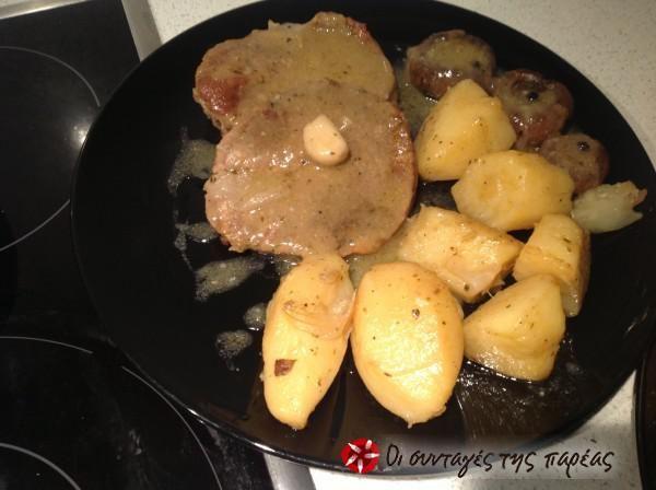 Φιλέτα μοσχάρι με πατάτες και μανιτάρια #sintagespareas