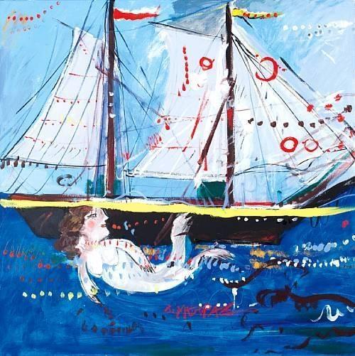 Boat and mermaid  Dimitris Mytaras