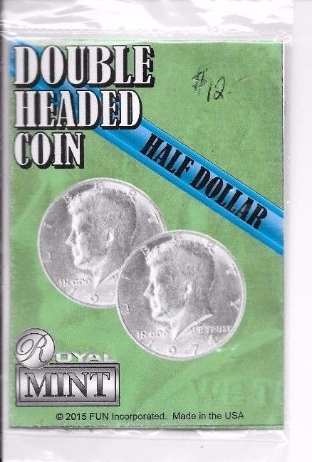 Double Sided Coin  Half Dollar Head .50 Cent Double Headed Coin Magic Trick Collectibles:Fantasy, Mythical & Magic:Magic:Tricks www.webrummage.com $10.99