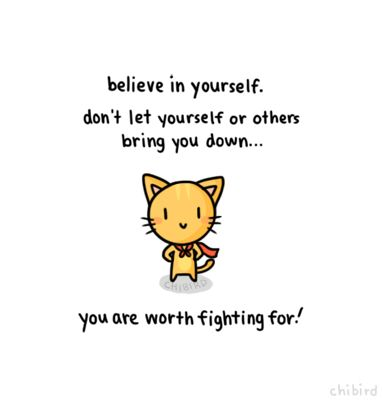 A friend for the believe in yourself bunny.-sings- A girl worth fighting for~