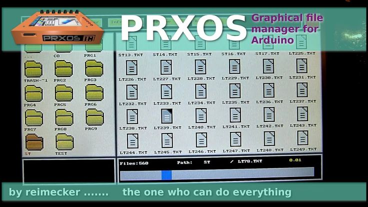 PrXoS //  Graphical file manager for Arduino // Jan. 2018