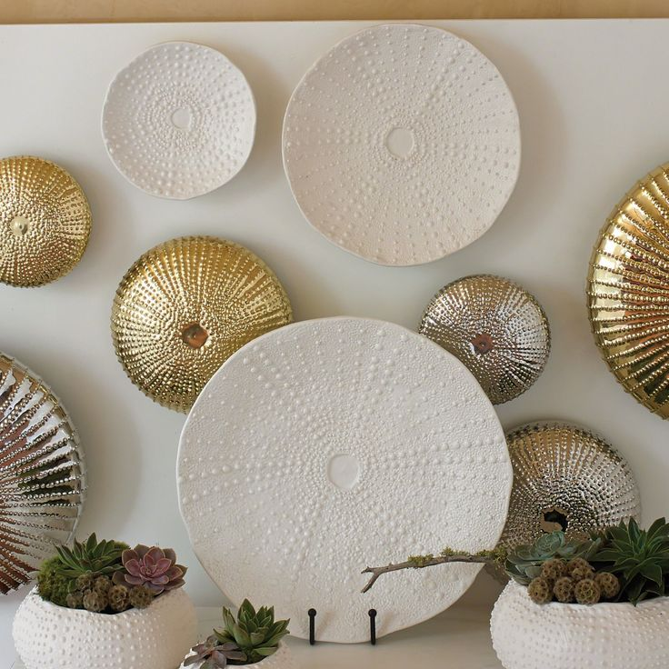 Global Views Ceramic Urchin Platter - 3.31151