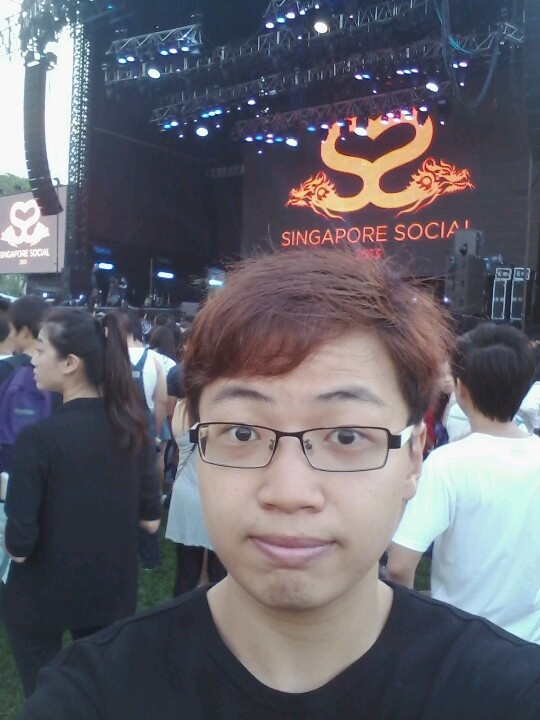 At the concert!