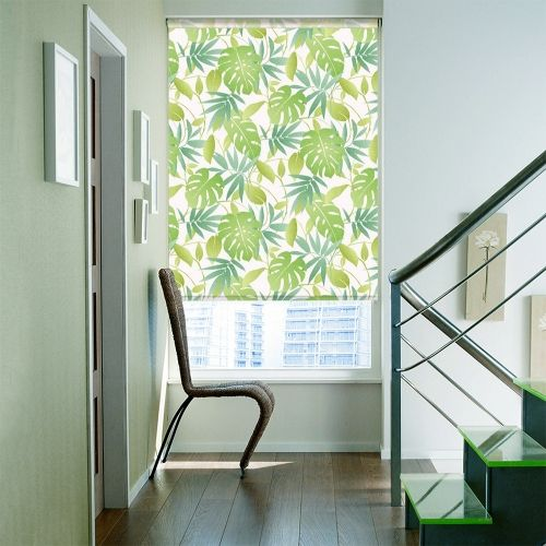 Amble Green Roller blinds