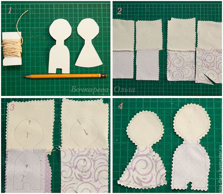 Текстильные магниты на холодильник: шьем парочку кукол-неразлучников - Ярмарка Мастеров - ручная работа, handmade