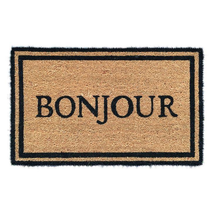 Entryways Bonjour Coir Outdoor Doormat - P874C
