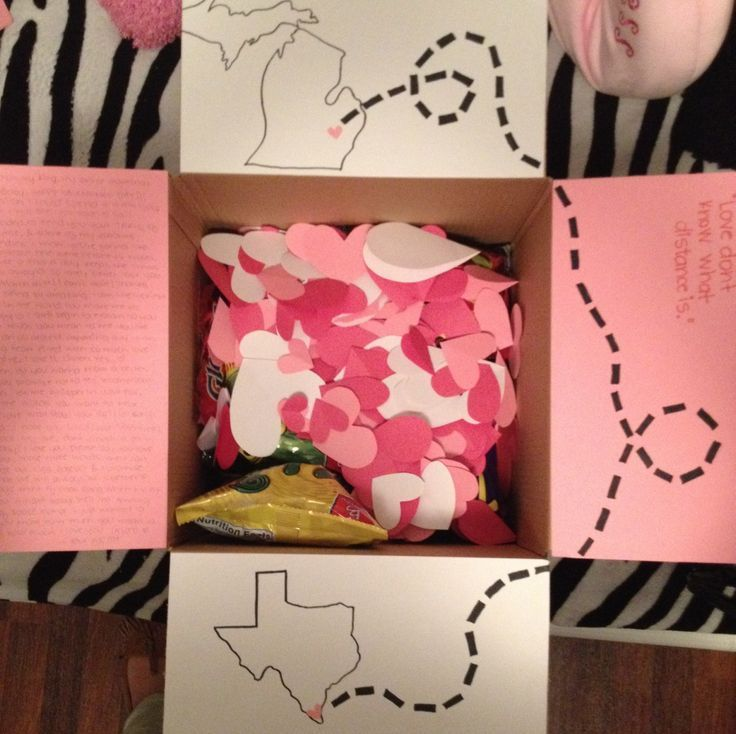 Another cute idea valentines care package gift for my for Creative valentines day ideas for wife