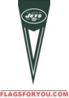 "Jets Yard Pennants 34"" x 14"""