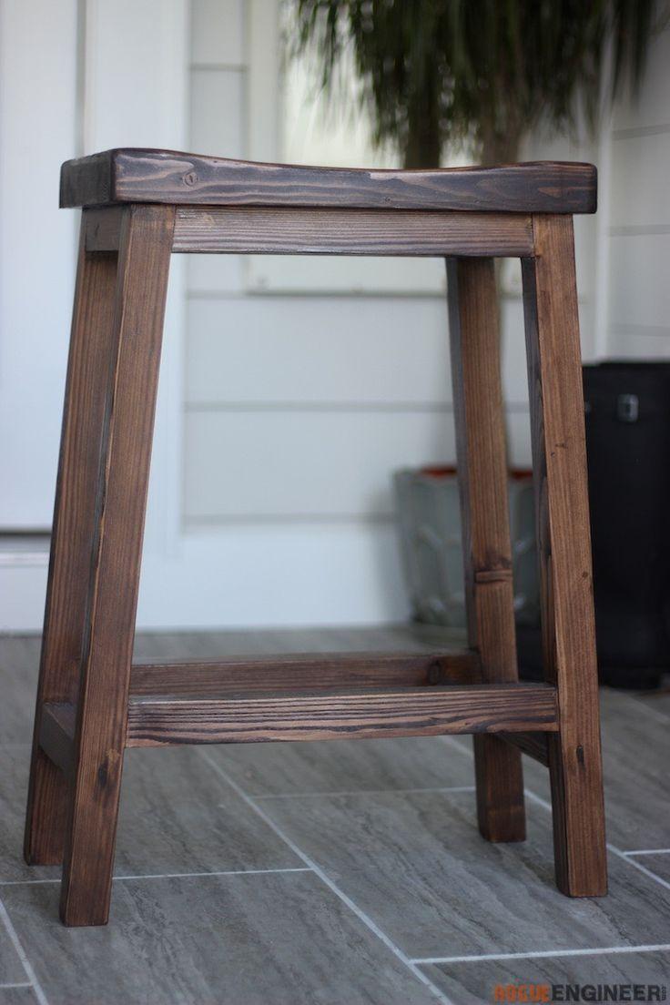 Awe Inspiring Counter Height Bar Stool Diy Holz Diy Hocker Barhocker Machost Co Dining Chair Design Ideas Machostcouk