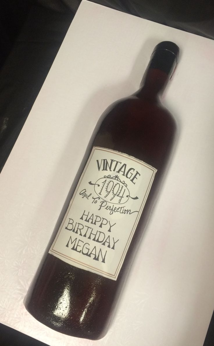 Wine Bottle Cake, Cakes By Darcy