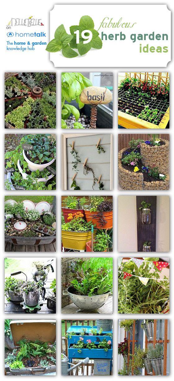 Herb garden ideas!