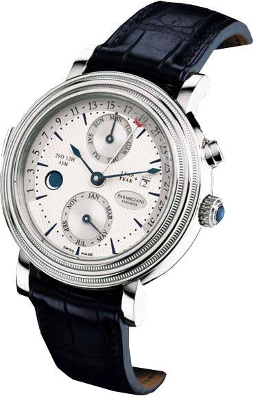 PF010172.01 Parmigiani Toric Corrector - швейцарские мужские наручные часы - платиновые, белые