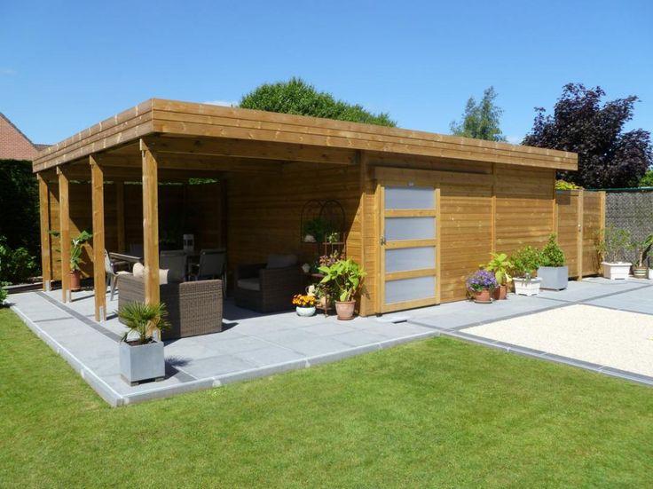 Les 25 meilleures id es de la cat gorie veranda toit plat sur pinterest verri re de toit plat - Abri de jardin avec extension ...