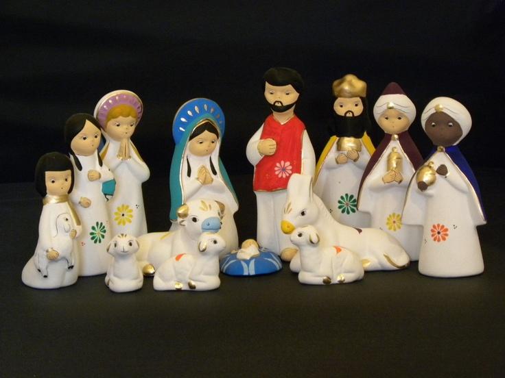 "Mexican Nativity scene 4.75"" tall"
