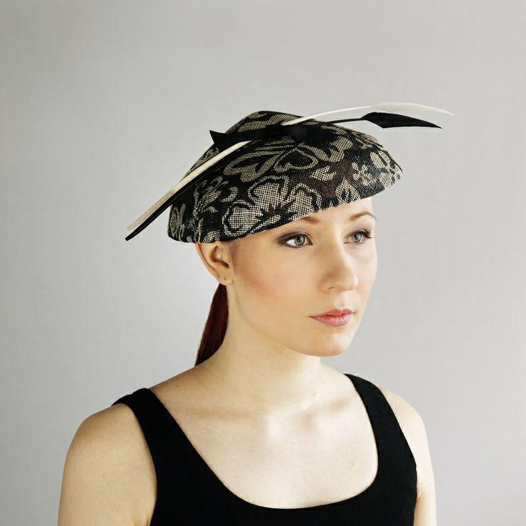 av Annina SS 2014 fascinator, hat, black & white, feathers www.avannina.fi #avannina #fascinator