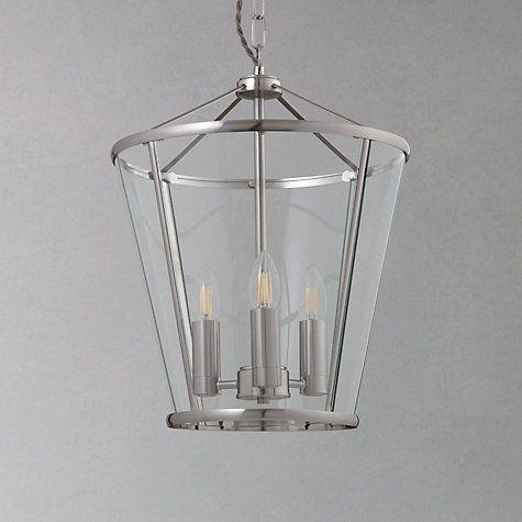 Buy John Lewis Granchester Glass Lantern Ceiling Light, Clear/Chrome Online at johnlewis.com