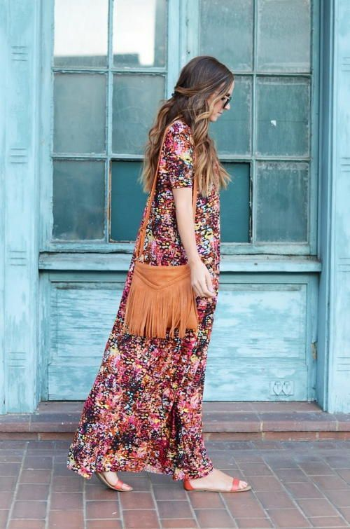 """Design a stylish and comfortable maxi dress that's roomy and figure flattering with this Boho Chic Maxi Dress Tutorial. A great option for spring, summer, or fall, this <a href=""""http://www.allfreesewing.com/Miscellaneous-Clothing/34-Dress-Patterns-for-Sewing"""" target=""""_blank"""" title=""""75+ Dress Patterns for Sewing"""">free dress tutorial</a> is ideal for those breezy days between seasons and is wonderful for casual days running errands or dressy nights out...."""