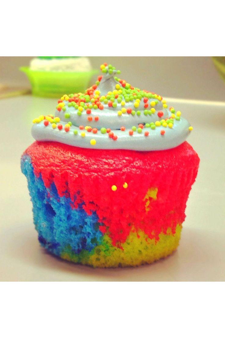 Miss Vogue Recipes - Tie-Dye Cupcakes