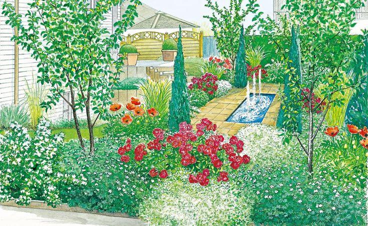 kleiner garten gro e wirkung progettare un giardino pinterest kleine g rten g rten und. Black Bedroom Furniture Sets. Home Design Ideas
