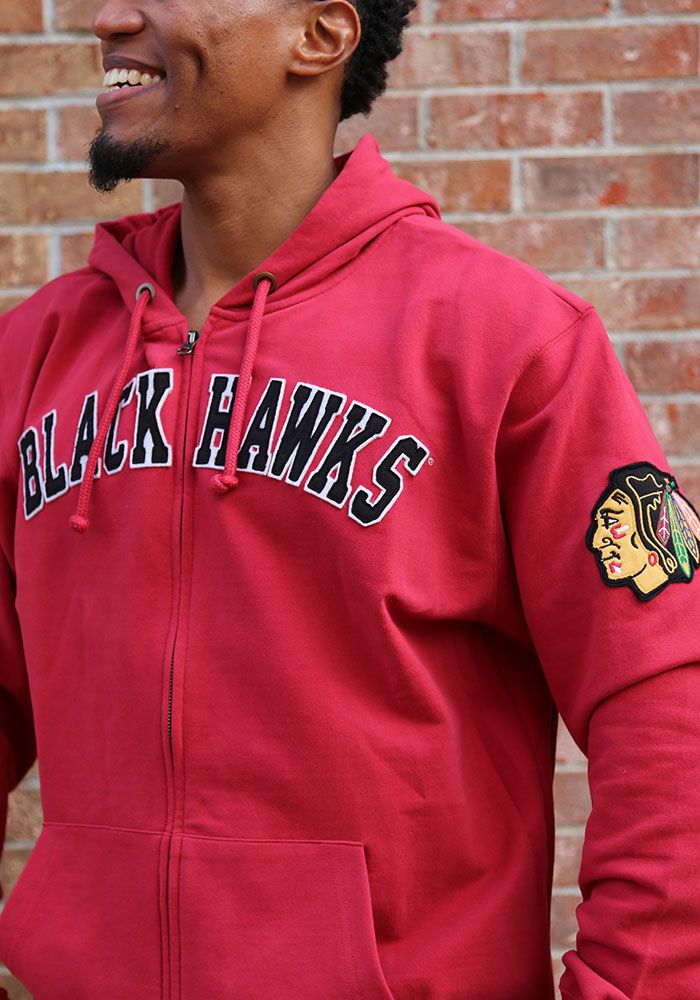 47 Chicago Blackhawks Mens Red Striker Long Sleeve Zip Fashion - Image 3 9bb0b6865