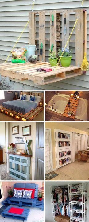 Lots of DIY Pallet Project Ideas & Tutorials.