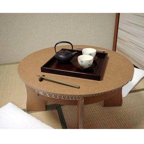 軽くて丈夫な強化ダンボール製の卓袱台(ちゃぶ台)を販売。軽いのでご年配や子供でも持ち運び易く、使わない時は平らな状態に出来る組立式です!