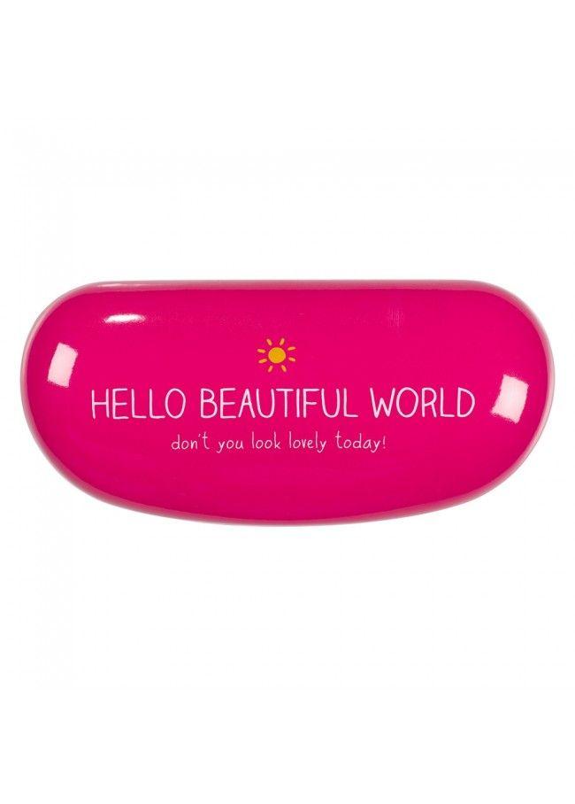 Sunglasses Case Hello Beautiful World