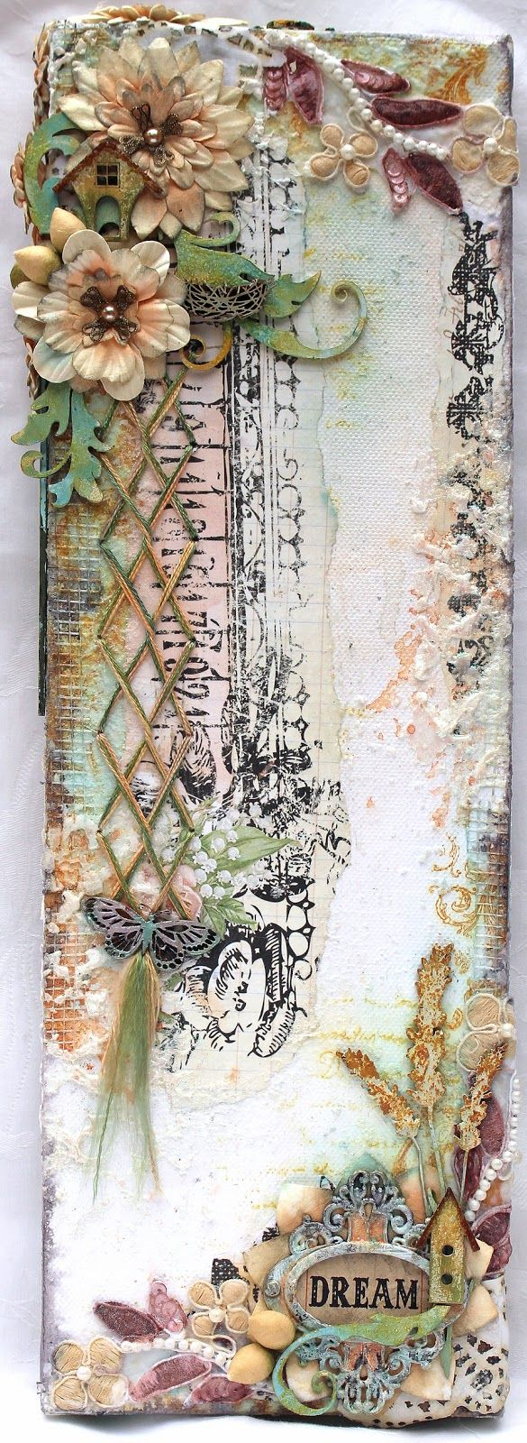 Patricia basson - lovely mixed media canvas!
