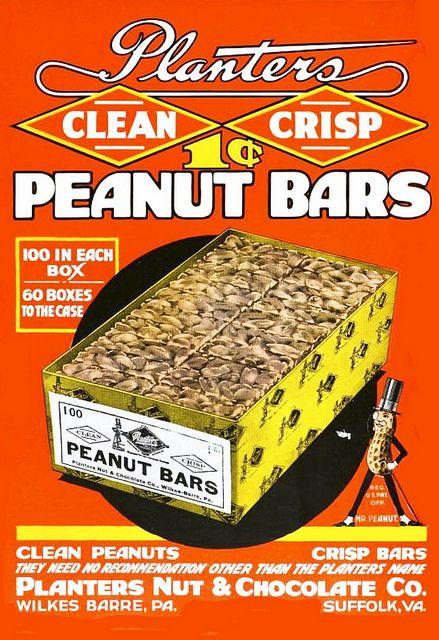 1921 Planters Peanut Bars #1920s #vintage #food