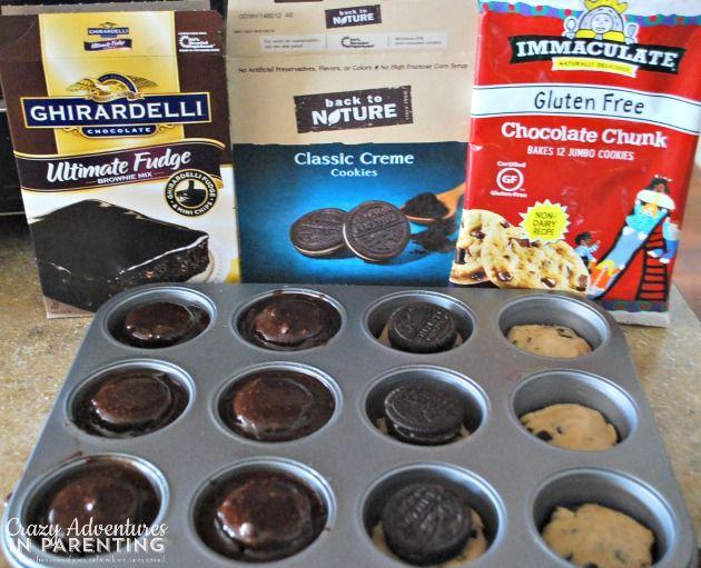 Oreo Cookie Dough Brownie Cupcakes | http://crazyadventuresinparenting.com/2014/03/oreo-cookie-dough-brownie-cupcakes.html