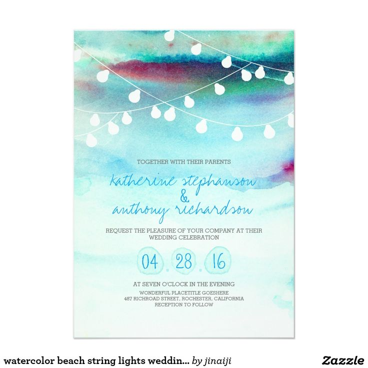 52 best Watercolor Wedding Invitations images on Pinterest ...
