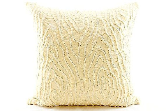 Beige white fur skin leather 20x20 throw pillow cover  Rustic