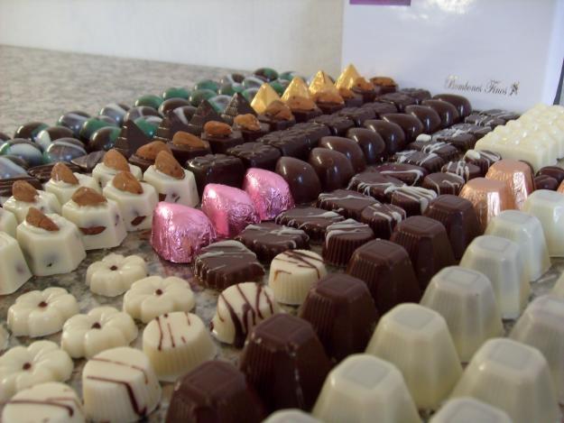Bombones de chocolate caseros.