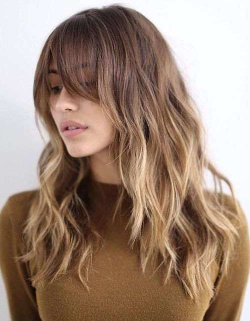 Long Bang Hairstyles long layered hairstyles with bangs are now in great demand why everyone wants a flattering hairstyle thats also trendy effortless looking and 2017 Hairstyles With Long Bangs Hairstyles 2016 2017 New Haircuts And Hair Colors From