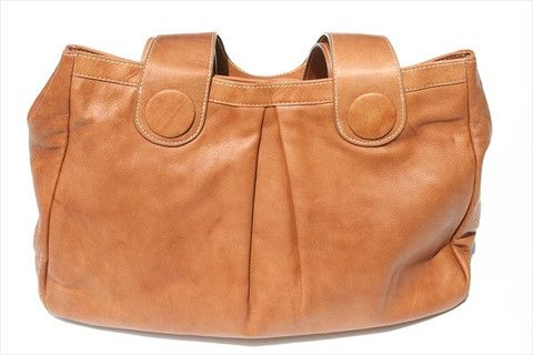 button detail bag - tan