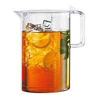 Plastic Iced Tea Brew Pitcher w/Clear Lid