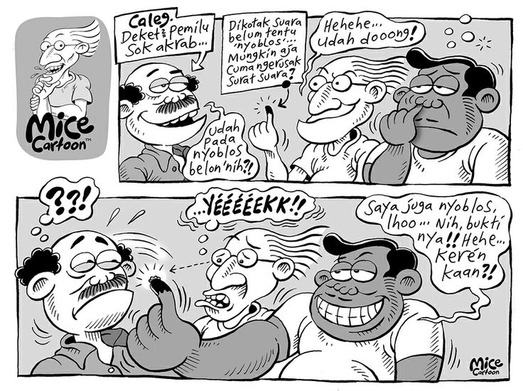 Mice Cartoon, Kompas 13 April 2014 - Edisi Pemilu 2014