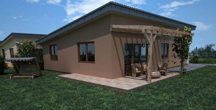 3D pohlad bungalov / bungalow projekt / šikmá strecha