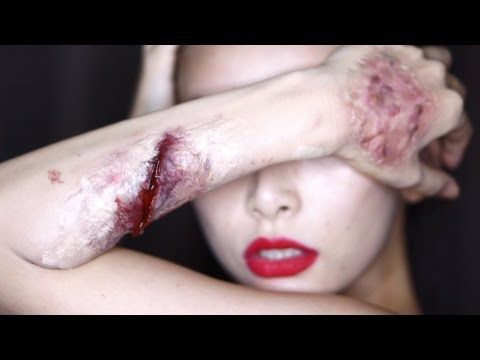 Halloween/Special FX Makeup: Easy scars (100均にあるもので作る簡単傷メイク) [Japanese with English subtitles]