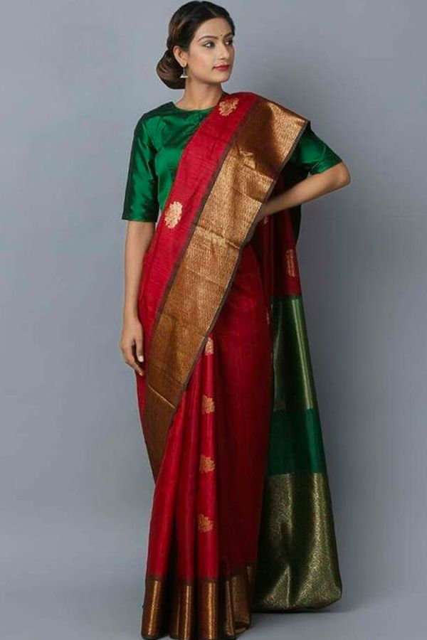 Latest Refreshing Maroon Colored Wedding Wear Soft Silk Saree