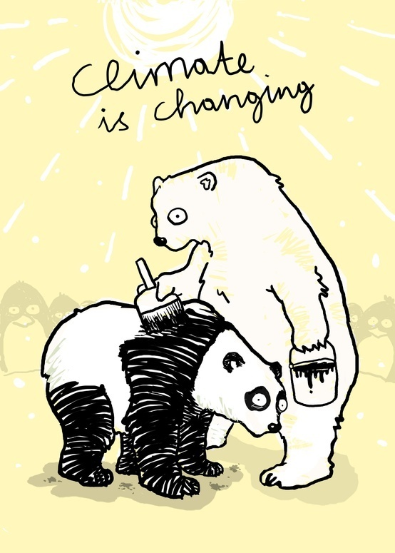 Climate is changing! Time to think about how you can protect the bears (don't make them become p…