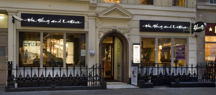 The Slug And Lettuce  19–20 Hanover Street London W1S 1YR Chain (similar to Friday's) Food and Drinks tube- Oxford Circus (LD 25%) (CW off6)