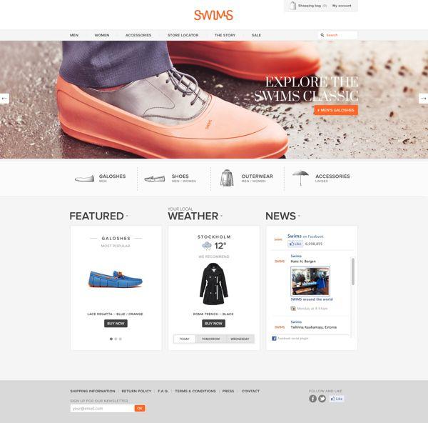 Ecommerce Websites  Ecommerce Website Design  Design Web  Website Designs   Swim  Style  Vans  Plastic Shoes  For Version. 30 best D E S I G N   U I images on Pinterest   Website designs