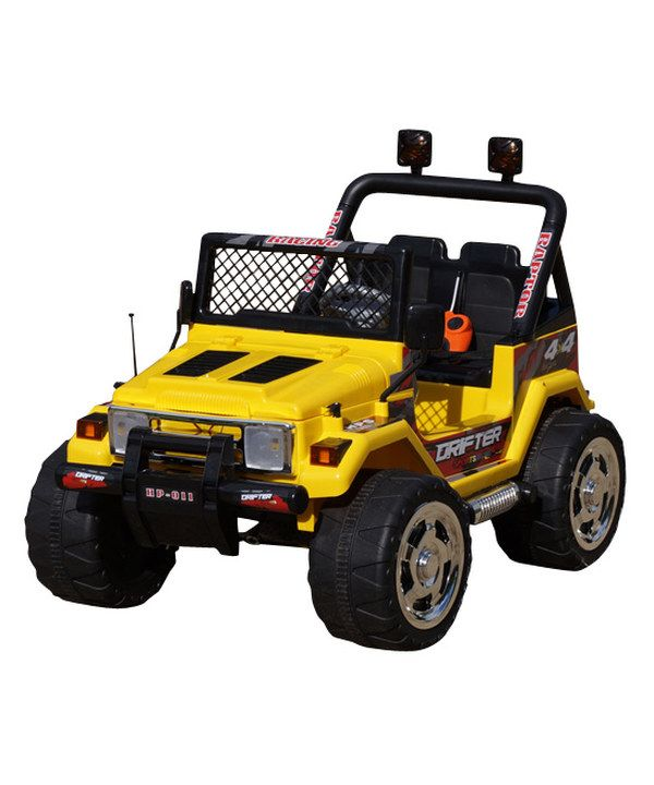 Look at this Yellow Jeep Wrangler Ride-On on #zulily today!