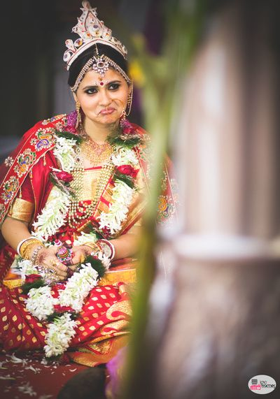 A lovely bride :)  #tamilwedding #Hinduwedding #beautiful #indianbride #candidwedding #candidshot