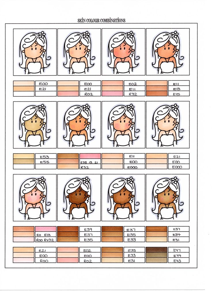Skin color variations  Stampin with Paula: My Copic Journal