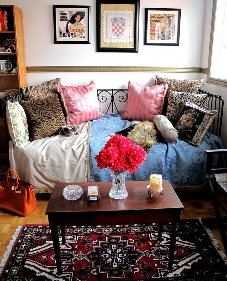 20 Schlafzimmer-Innenarchitekturen im böhmischen Stil