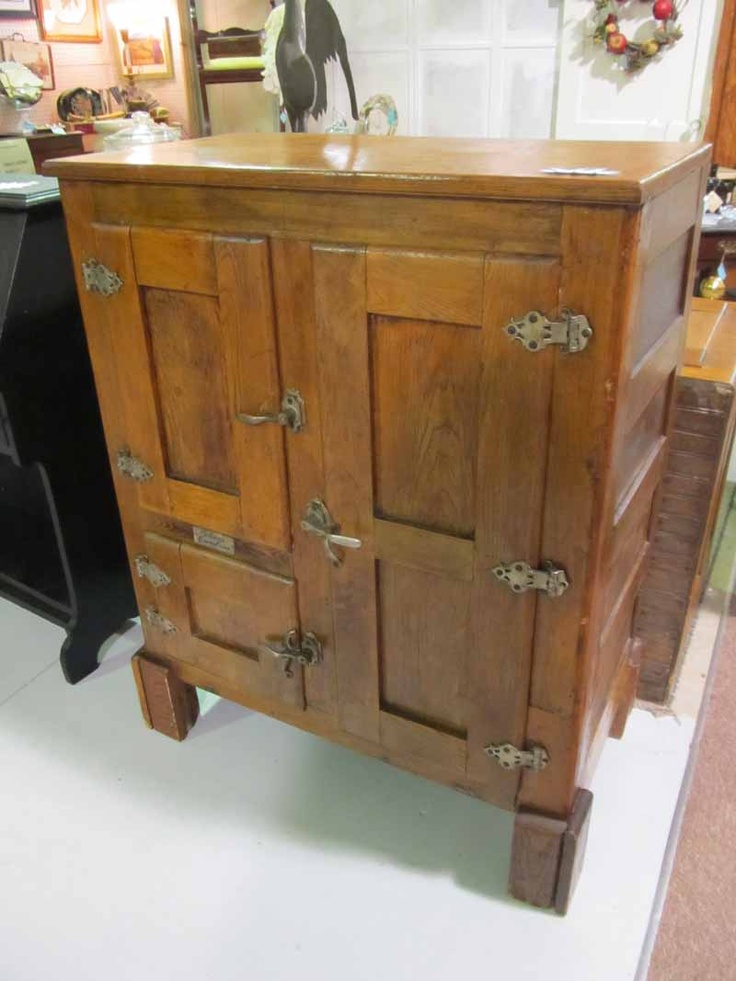 Very Old Oak Ice Box, 3 Door, Vendor 244     $399 .