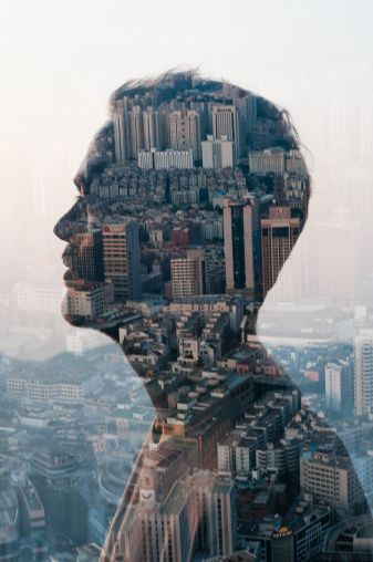 Man And Cityscape Double Exposure High-Res Stock Photography | Getty Images