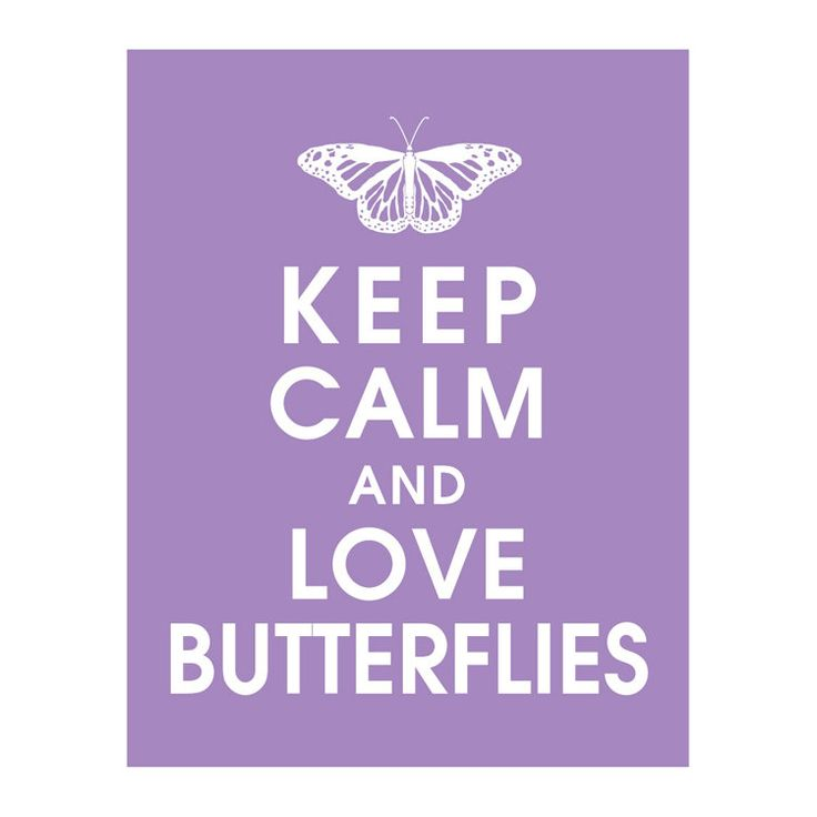 Keep Calm and LOVE BUTTERFLIES B Art Print by KeepCalmShop